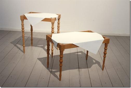 reddish tables