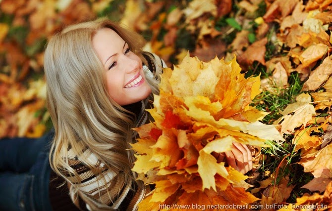 outono e os cabelos