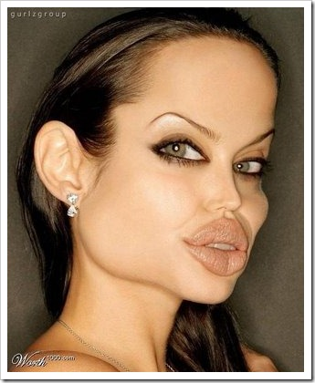 Funny Celebrity - Angelina Joli.