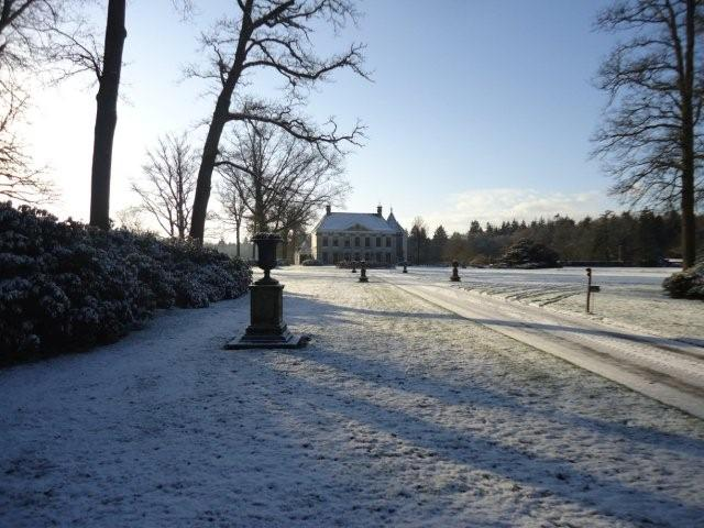 Huis Singraven in de winter - www.LandgoedDeKniep.nl