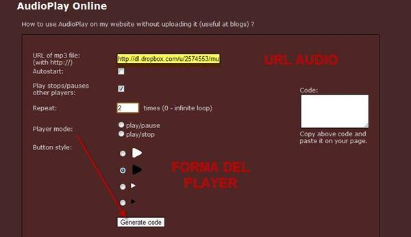 audioplay-configurazione-player