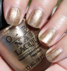 Everyone in the audience got a bottle of OPI metallic nail polish.