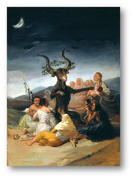 El Aquelarre, Goya 1797-98 (Museo Lázaro Galdiano,Madrid)