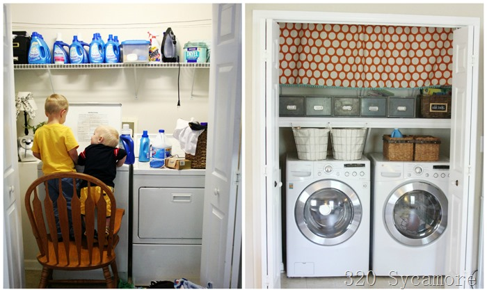 laundry closet before after