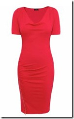 Red Joseph Zip Split Dress