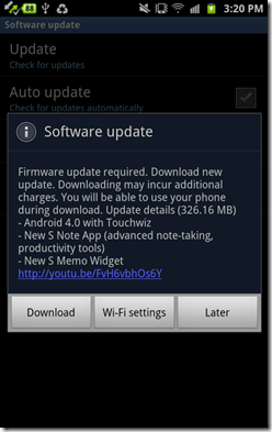 Update Android 4.0 6