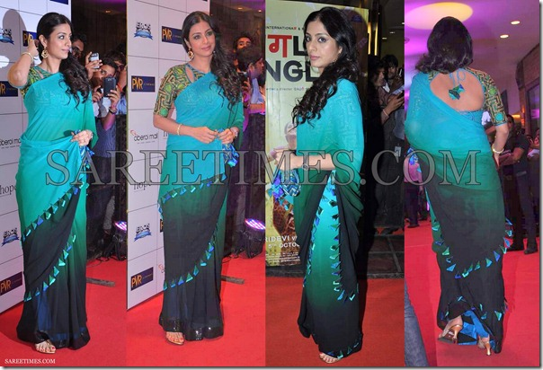 Tabu_Green_Black_Ombre_Saree