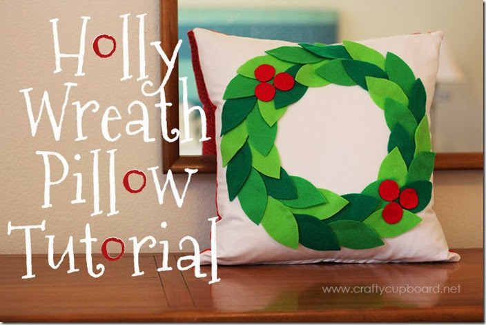 HOlly wreath tutorial