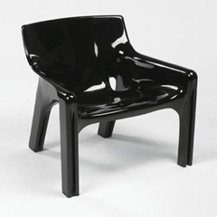 Vicario armchair, black