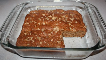 Toffee Banana  Orange Coffee Cake - slice out B