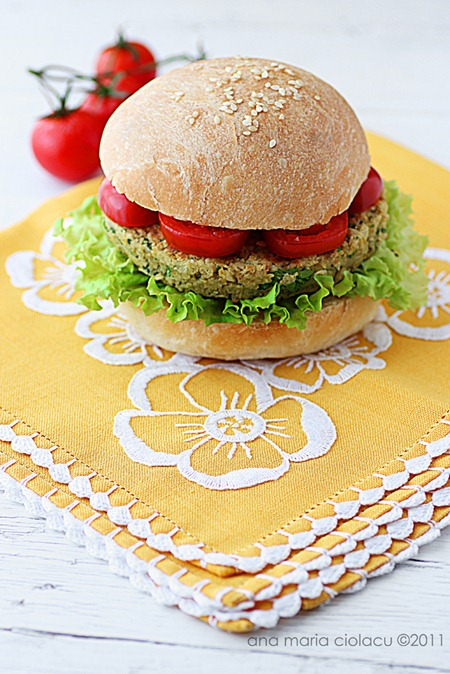 vegan chickpea burger 4