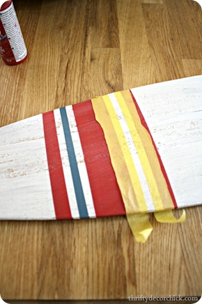 boat oar art stripes