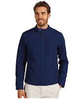 Calvin Klein - Full Zip Logo Moto Jacket (Blue Rush) - Apparel