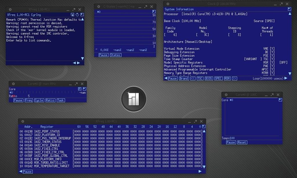 XFreq in Manjaro Linux