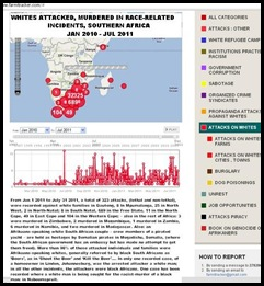 WHITES ATTACKED AND MURDERED SOUTHERN AFRICA JAN2010_JUL2011 FARMITRACKER COM