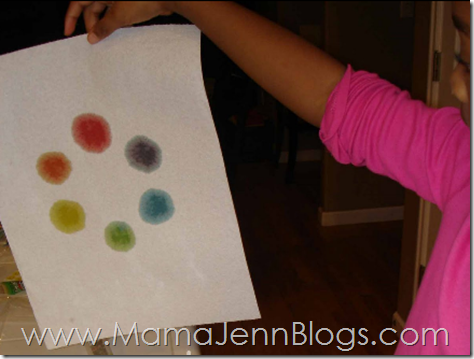 Printable Color Wheel Activity in Action