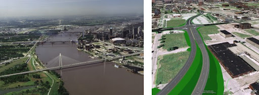Mississippi River Bridge renderings