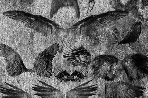 Pinceles de alas retro