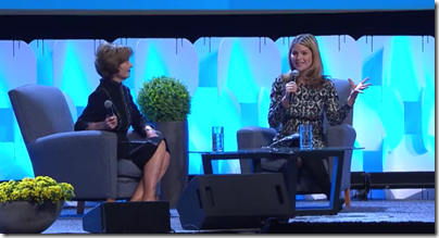 Jenna Bush Hager interviews her mother, Laura at RootsTech