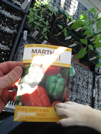 And the package says Martha Stewart!  I remember hearing something about a new line of seeds at Home Depot!
