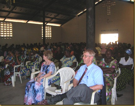 Jim and Sherri worshipped with us at the Kananga 1 parish