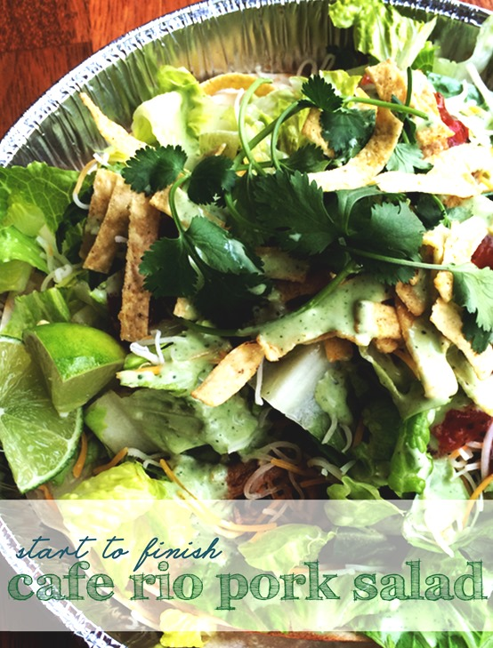 Cafe Rio Complete Sweet Pork Salad Recipe