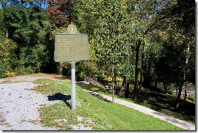Pawpaw Tree Incident marker at pull off near Buskirk, KY