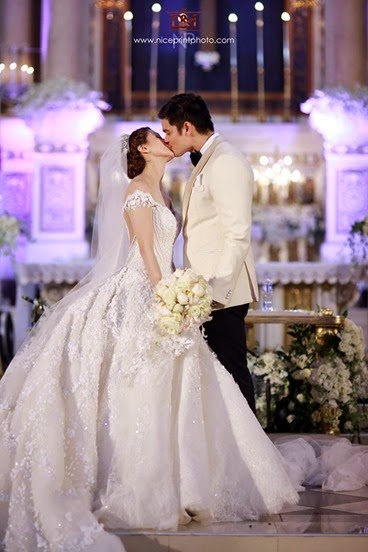 Marian Rivera-Dingdong Dantes wedding via Nice Print Photography & Exige Weddings