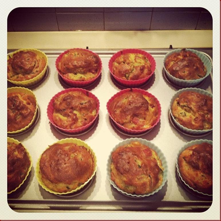muffin zucchine stracchino e pancetta