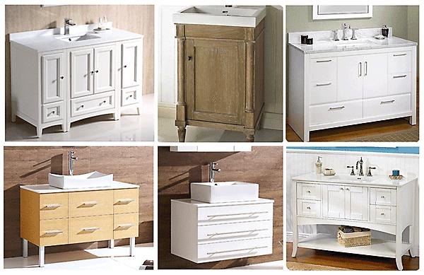 White vanities