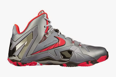 nike lebron 11 ps elite silver crimson camo 5 01 Release Reminder: Nike LeBron XI Elite Team Collection