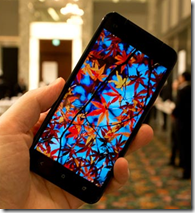 HTC J butterfly display