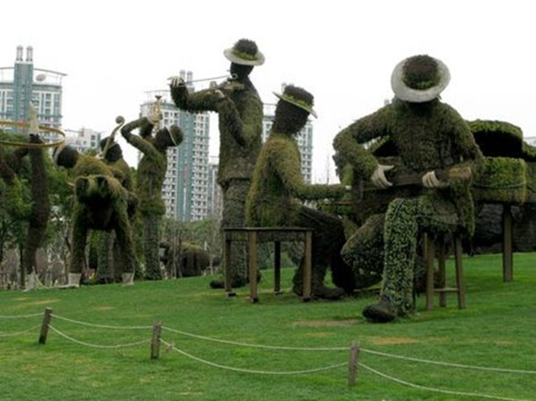 Shanghai&#39;s Century Park Musicians