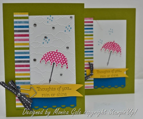 Rain or Shine, Stampin'Up, Make n take