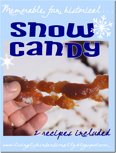 Snow Candy Recipe - this is a fun winter activity for kids of all ages. This historical snow candy is a fun way to talk about frontier times while eating a yummy, easy to make snack for kids.  Here is our recipe for this FUN winter kids activity #recipes