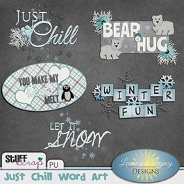 Just Chill - Word Art