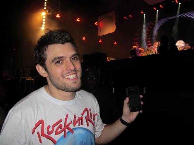 Foto do Fã de Katy Perry que ganhou beijo da cantora no Rock in Rio<