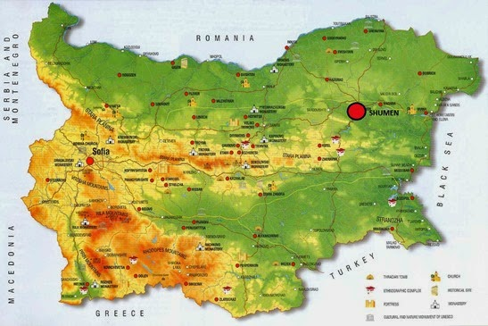 Bulgaria-culture-history-Map SHUMEN