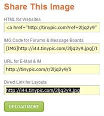 Upload image ke TinyPic