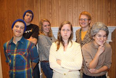 (back) Cameron Gingerich, Hannah Gingerich, Jacob Bruns. (front) Justin Boller, Anne Buckwalter, Kaycee Miller.