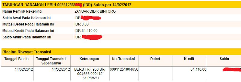 Bukti Pembayaran Digieclub.com (Pembayaran Kelima)