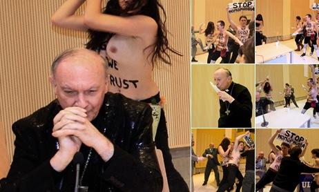 """Просмотр альбома """"FEMEN против главы католической церкви Бельгии. 23.04.2013"""""""