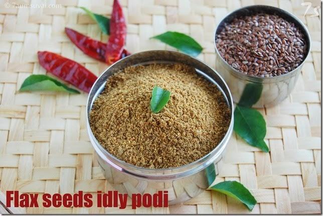 Flax seeds idly podi
