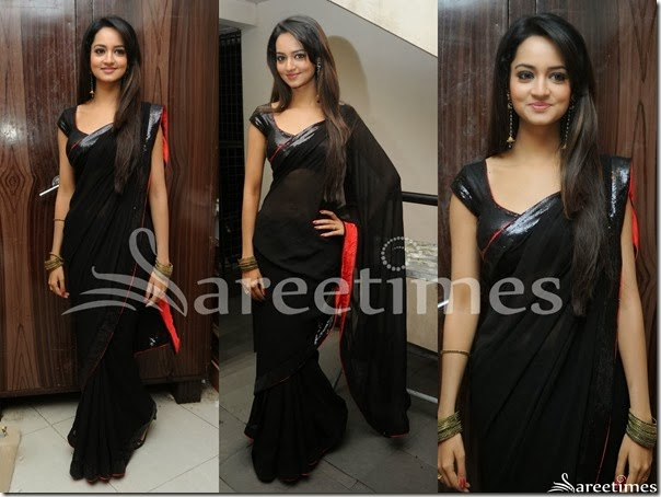 Shanvi_Black_Saree