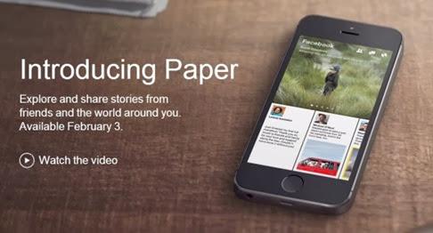 Paper para Facebook