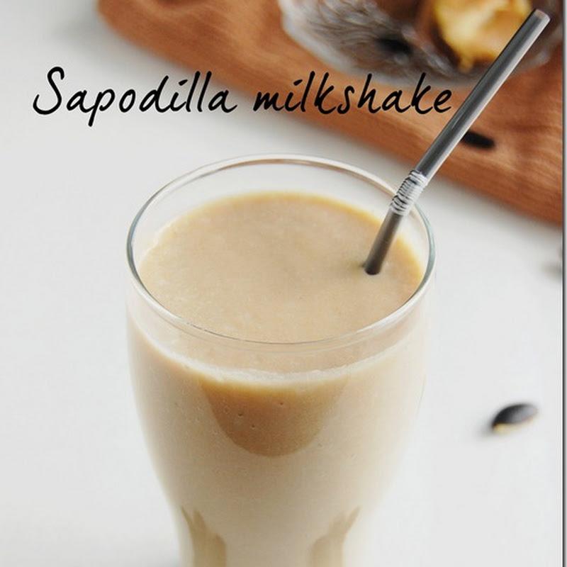 Sapodilla milkshake