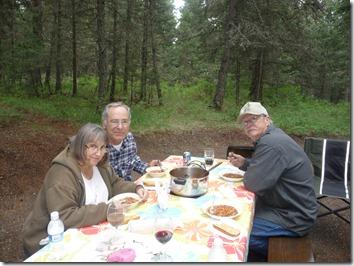 Soup for Dinner at Lac La Hache Provincial Park