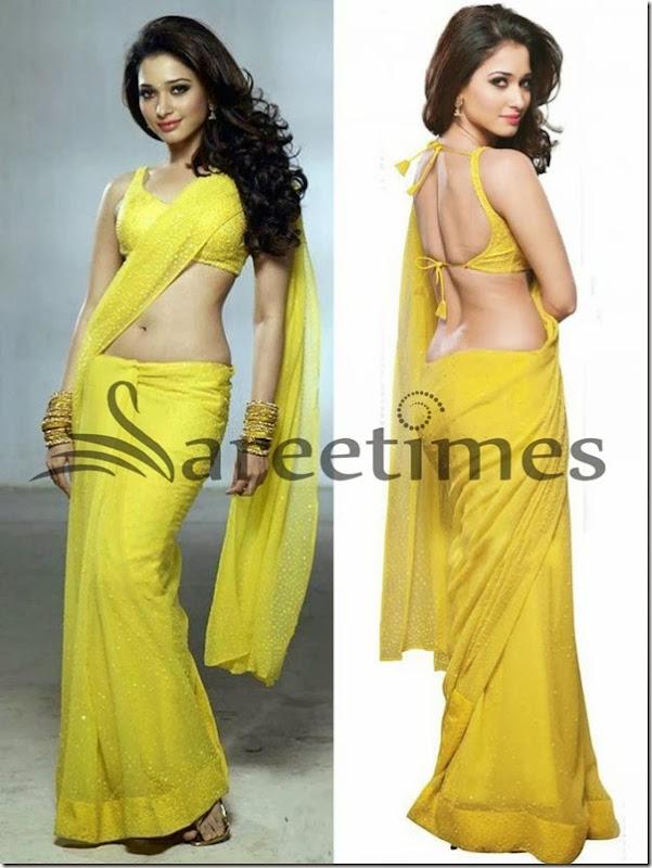 Tamanna_Yellow_Saree