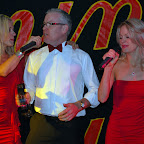 Andrew Clarkson (singing again!) with the Flaming Sambuca girls
