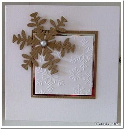 Die cut snowflake Christmas Card